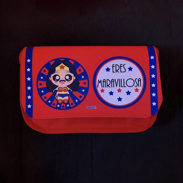 estuche neceser wonder woman, kawaii, fan art