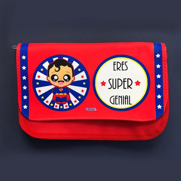 estuche neceser, superman, kawaii